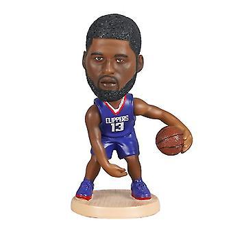 Venalisa Paul George Figurine d'action Statue Bobblehead Basketball Doll Décoration