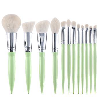 Pinceaux de maquillage Premium Synthetic Foundation Powder Concealers Eye Shadows Makeup 12 Pcs