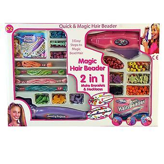 Magic Hair Beader 2 In 1 meisjes sieraden Maker kraal Armbanden en kettingen