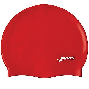 菲尼斯硅胶游泳帽-红色