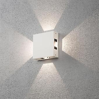 Konstsmide Cremona Square White Wall Light