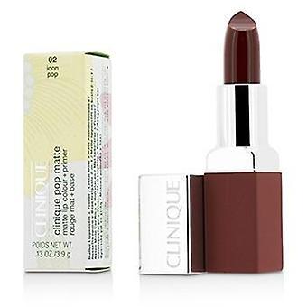 Clinique Pop Matte Lip Colour + Primer - # 02 Icon Pop - 3.9g/0.13oz