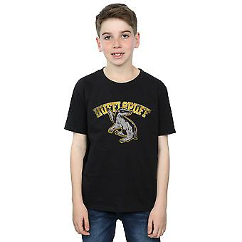 Harry Potter chicos Hufflepuff deporte emblema t-shirt