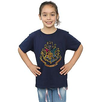 Harry Potter Girls Hogwarts Distressed Crest T-Shirt