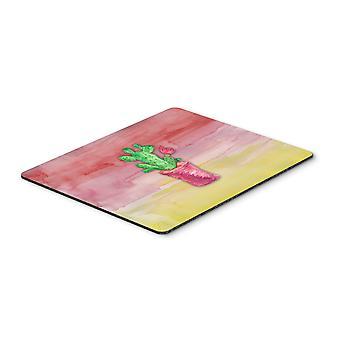 Flowering Cactus Watercolor Mouse Pad, Hot Pad or Trivet