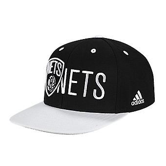 ADIDAS flatbrim Brooklyn Nets basket flat cap [svartvitt]