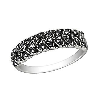 Patterned - 925 Sterling Silver Jewelled Rings - W30153x