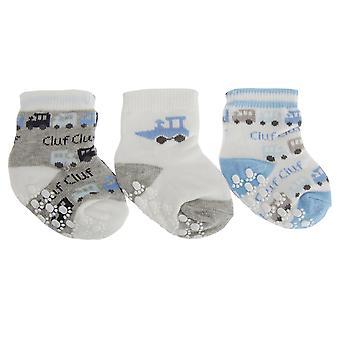 Nursery Time Baby jongens trainen Design sokken (pak van 3)