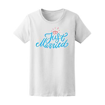 Just Married With Two Hearts Tee Women's -Image by Shutterstock