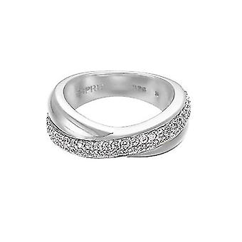 ESPRIT women's ring silver zirconia purity glam ESRG91722A1