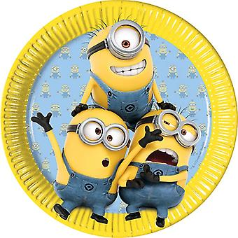 Πλάκα κόμμα πλάκα τσιράκια παιδικά πάρτι γενεθλίων 23cm διάμετρος 8 κομμάτια