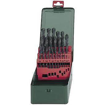 Metabo 627152000 HSS Metal twist drill bit set 25-piece rolled DIN 338 Cylinder shank 1 Set