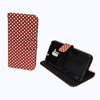 Telefono cellulare custodia per cellulare Huawei honor 5C pois rosso