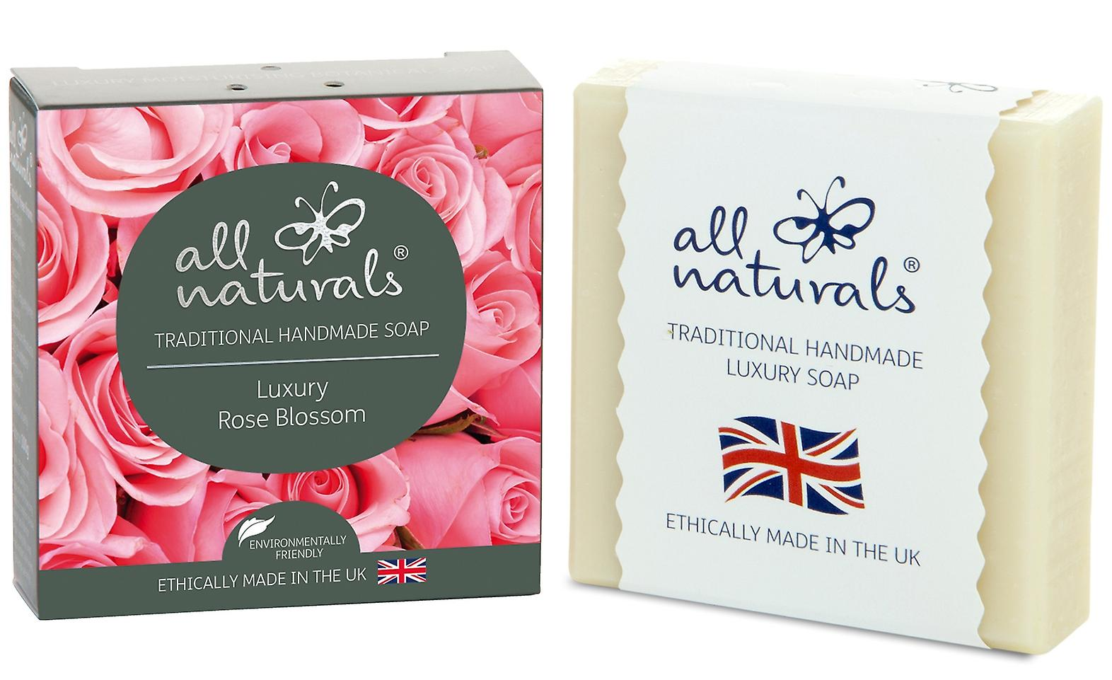 All Naturals Organic Soap Bar Rose Blossom 100g