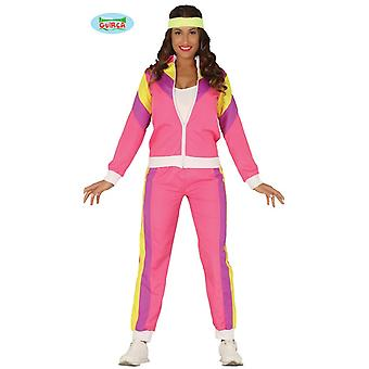 anos 80 anos 90 ASI Proletin rosa correndo atender senhoras traje movimentando fantasia basculador