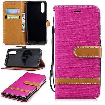 Huawei P20 téléphone affaire sac protecteur Housse Etui compartiment boîtes LIVRE style rose