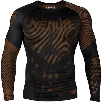 Venum No-Gi 2.0 Långärmad MMA komprimering Rashguard - Svart/brun