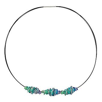 Ti2 Titanium Triple Chaos Twist Pendant and Necklace - Green