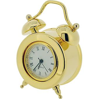 Gift Time Products Double Bell Miniature Clock - Gold