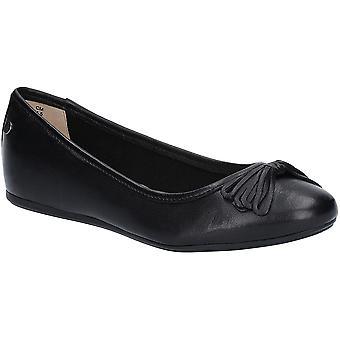 صة الجراء المرأة القوس هيذر البالية أحذية جلدية مسطحة