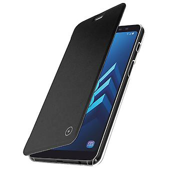Muvit slim case, flip cover crystal case for Samsung Galaxy A8 - Black
