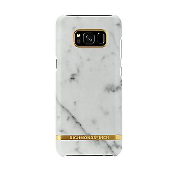 Richmond & Finch shells voor Samsung Galaxy S8-wit marmer