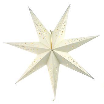 Adventos estrela estrela de papelão branco 74 cm