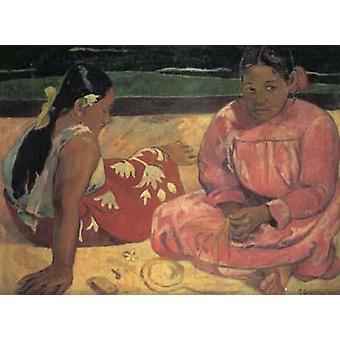 Tahitian Women on the beach,Paul Gauguin,50x40cm