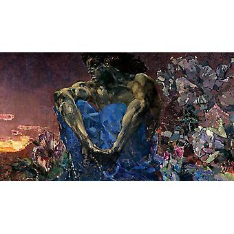 الشيطان الجالس، ميخائيل فروبيل، 80x40cm