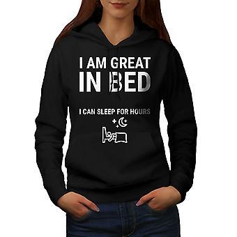 Büyük Yatakta Kadınlar BlackHoodie   Wellcoda