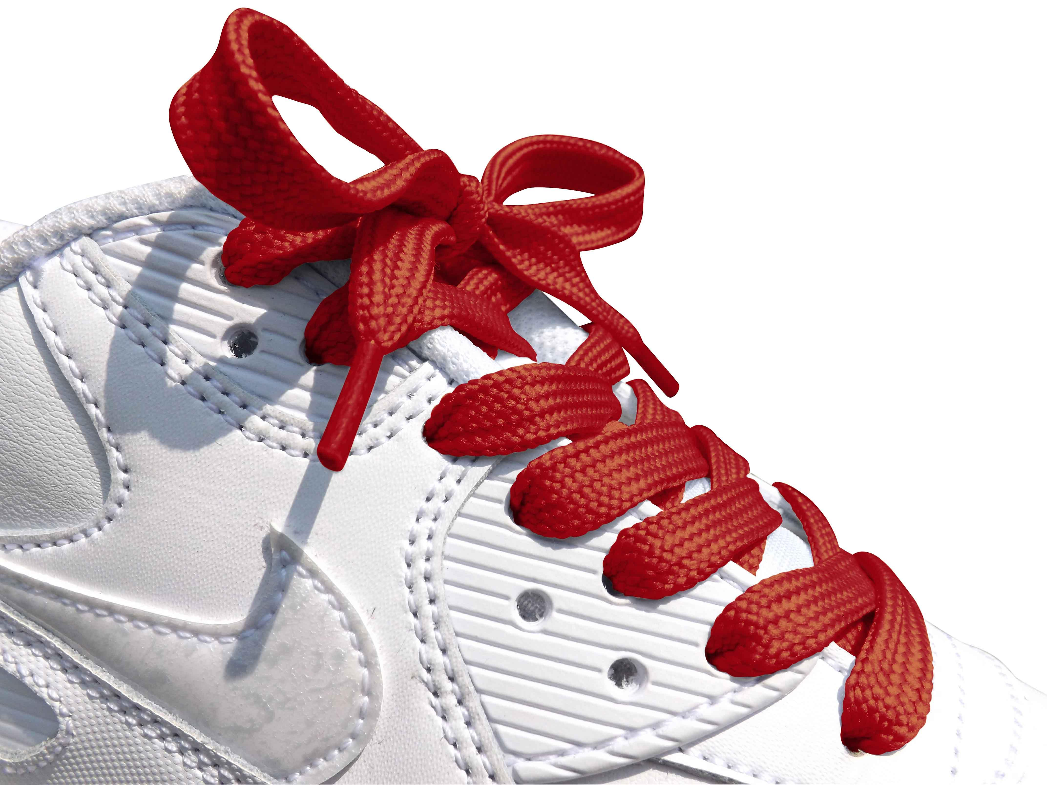 Red Flat Trainer Laces