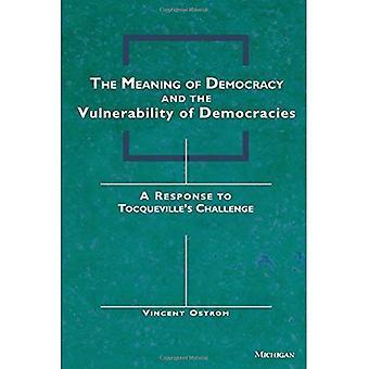 Die Bedeutung der Demokratie und die Schwachstellen der Demokratien: eine Antwort auf Tocqueville Herausforderung