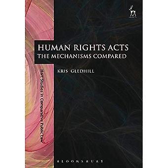 Mensenrechten Acts: De mechanismen ten opzichte van (Hart Studies in vergelijkende publiekrecht)