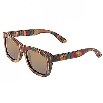 Spectrum Moriarty Wood Polarized Sunglasses - Multi/Brown