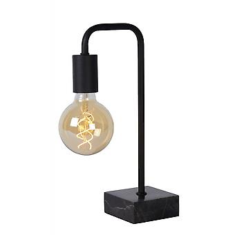 Lucide Lorin Retro  Steel Black Table Lamp