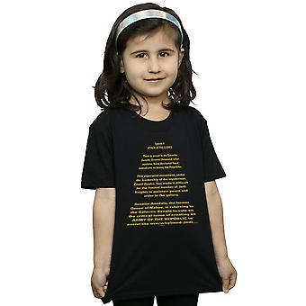 Star Wars Girls Attack Of The Clones öffnen Crawl T-Shirt