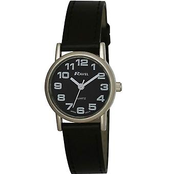 Ravel R 0105.07.2-wristwatches, nainen, muovi, väri: musta