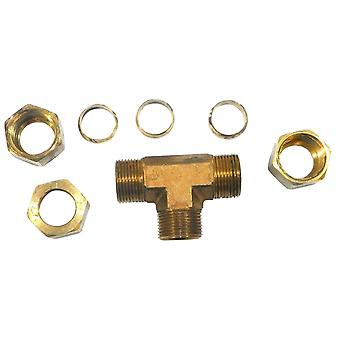 Big A Service Line 3-164900 Brass Pipe, Tee Fitting Kit 5/8