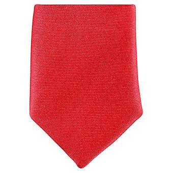 Knightsbridge Neckwear Skinny Polyester Tie - Bright Red