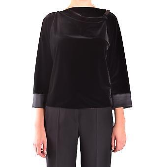 Armani Collezioni Ezbc049122 Damen's Schwarz Polyester Pullover