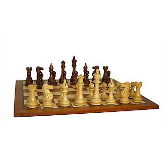 Jumbo Staunton Chess Set With Sapele Board