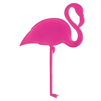 60mm broche flamant rose acrylique