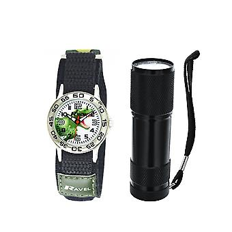 Ravel Dinosaur Watch und Micro Torch Boys Gift Set R4401a