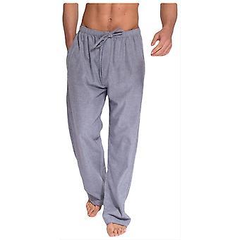 British Boxer Ash herringbone dos dobles pantalones de pijama de franela-gris