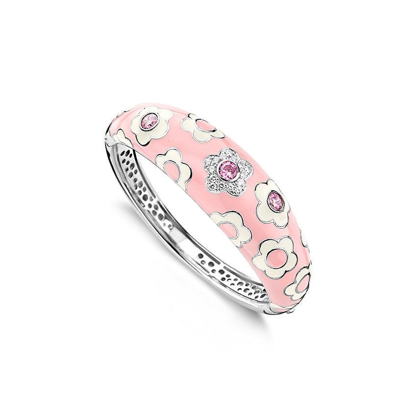 Belle Etoile Fleur Pink Bangle  07020810201-M