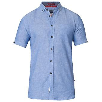 DUKE Duke Linnen Mix Korte Mouw Casual Shirt