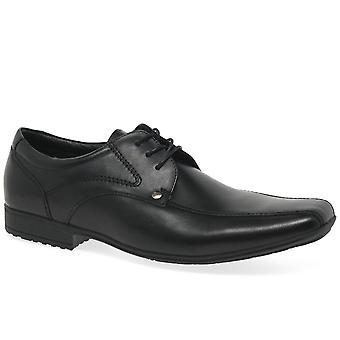Front Snowdon Mens Formal Black Leather Lace Ups