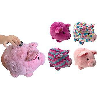 Banque de cochon de porc en peluche