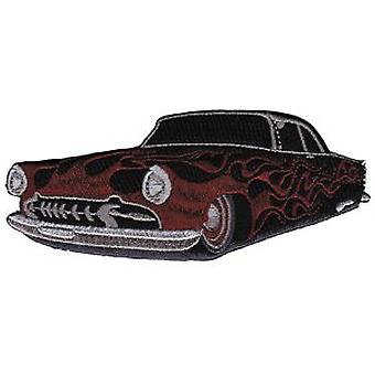 Patch - Automoblies - Hot Rod with Flames Iron On Gifts New Licensed p-3592