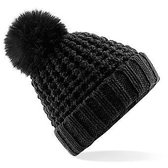 Beechfield - Popcorn Fur Pop Pom Beanie Hat